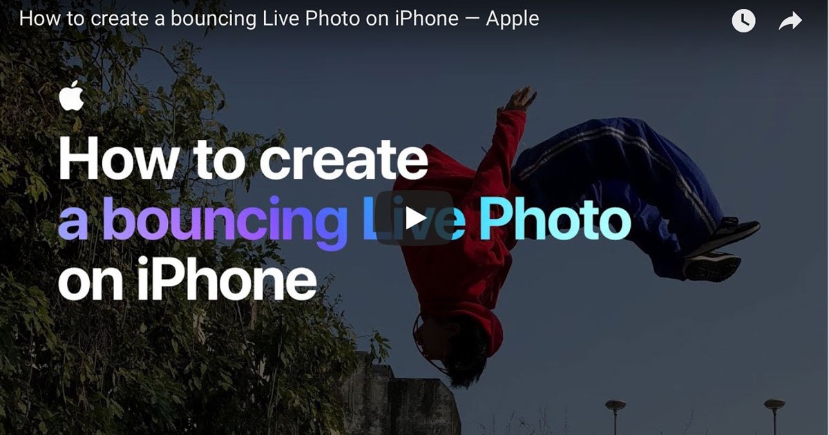 Apple Video: How to Create a Bouncing Live Photo