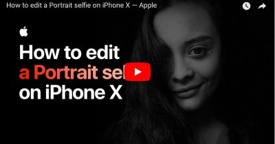 Screenshot from How to Edit a Portrait Selfie on iPhone X