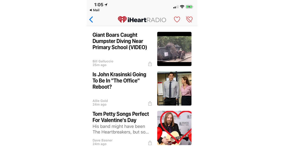 iHeartRadio Editorial Content Now on Apple News