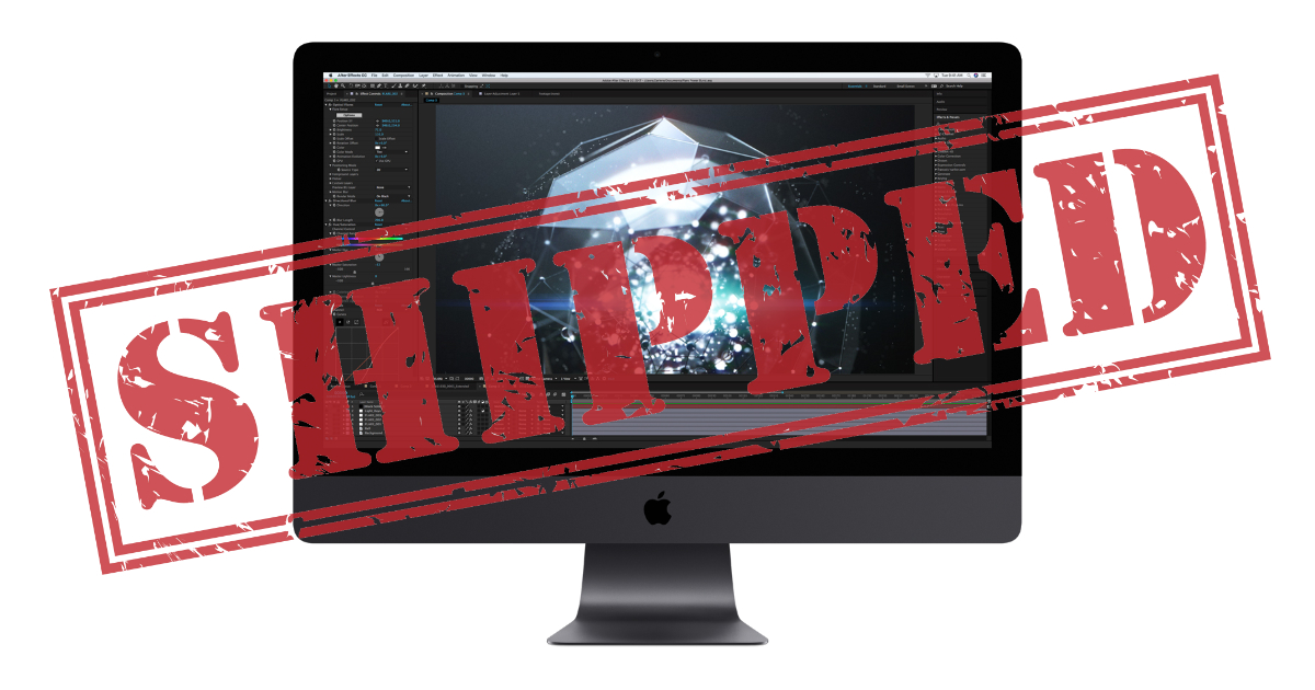 All iMac Pro configurations shipping