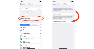 iOS 11.3 battery health and management settings for iPhone