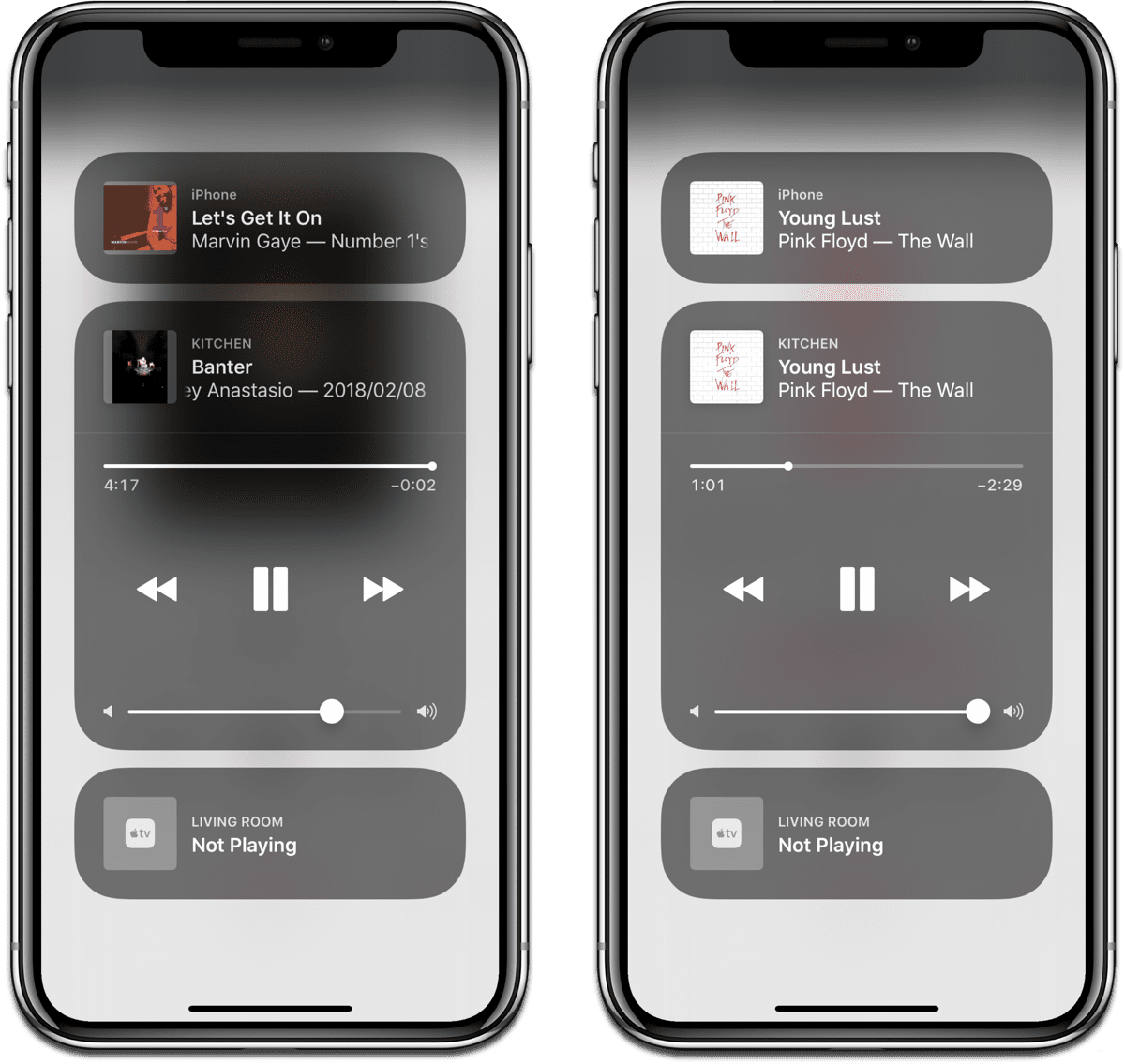 Use your iPhone as a HomePod remote by opening Control Center.