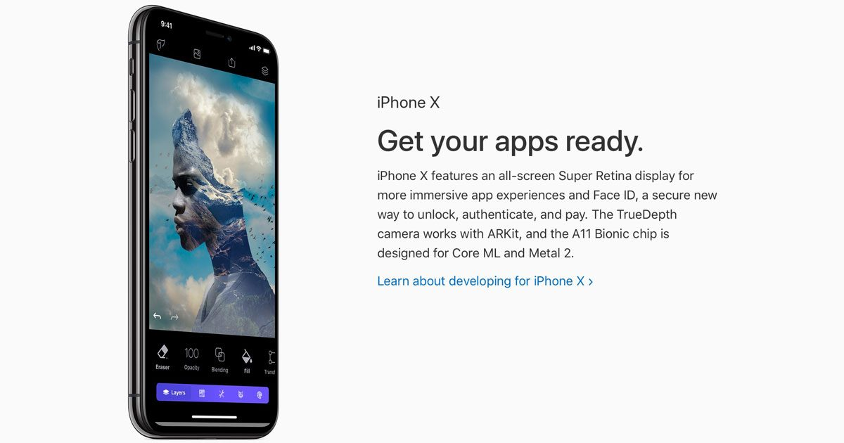 Apple's pitch to developers for iPhone X