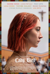 lady bird movie poster, one of the 2018 oscar nominees