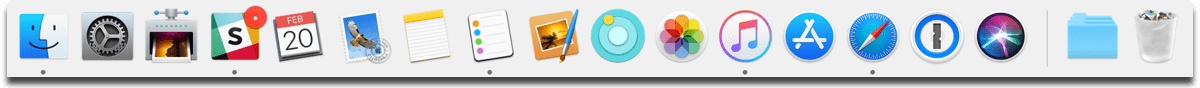 Launch Mac apps using the Dock.