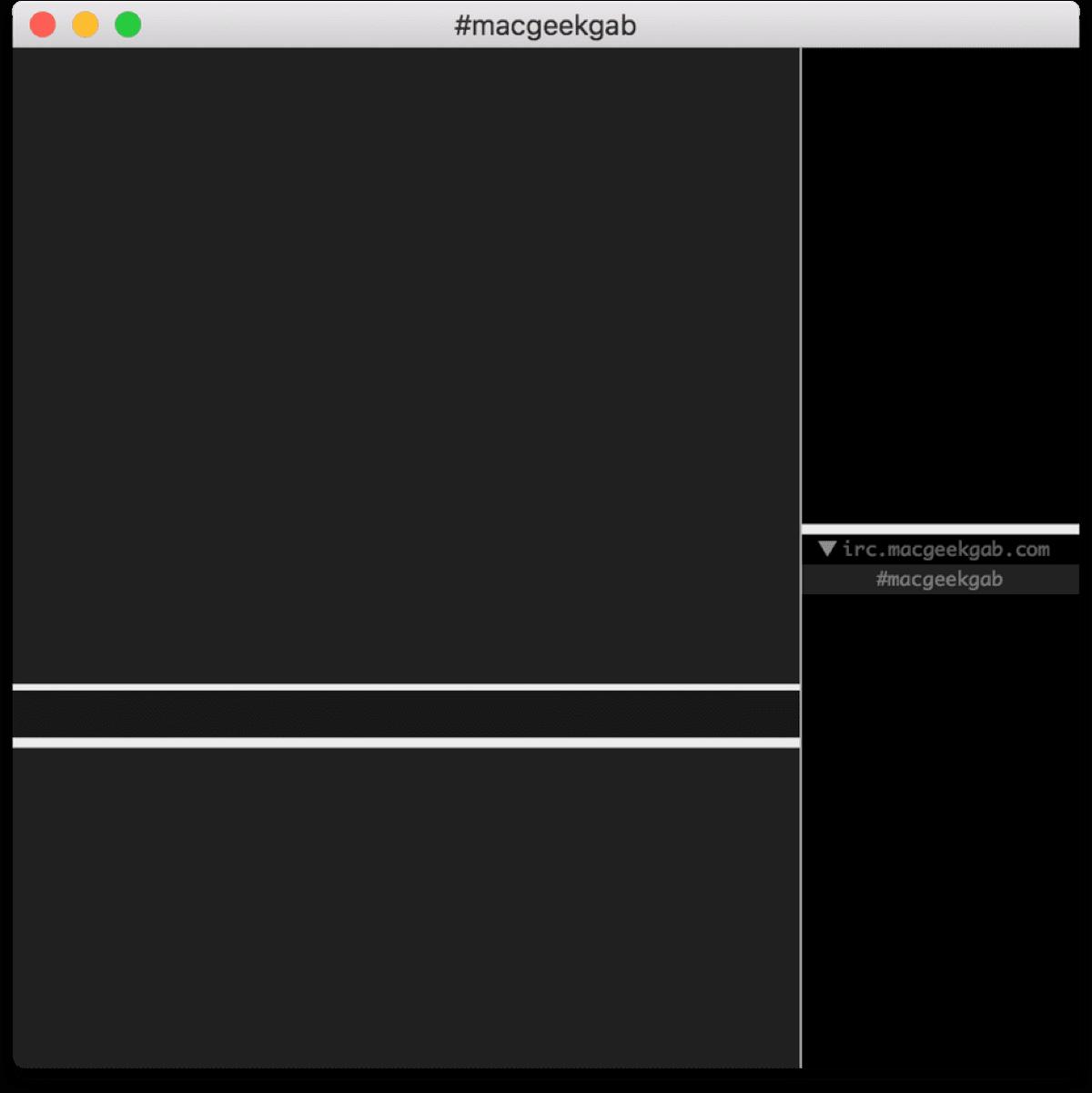 Screenshot of LimeChat, a Mac IRC client.