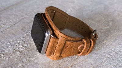 60 Year Leather Lowry Cuff for Apple Watch
