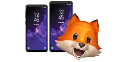Samsung Galaxy S9 smartphone with Animoji