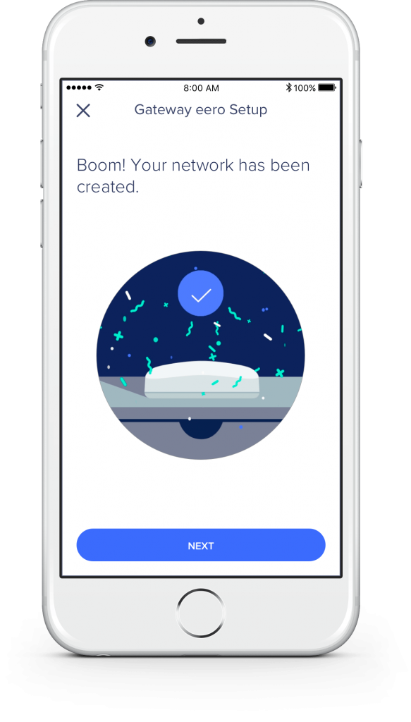 Setting up the Eero mesh network was simple with the Eero iOS app.