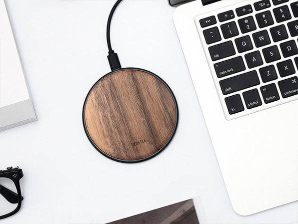 Takieso Walnut Qi Charger Made from North American Walnut: $34.90