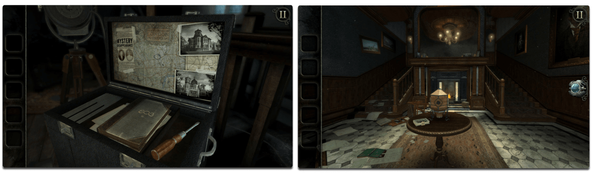 Screenshots of The Room: Old Sins, one of the iOS puzzle games.