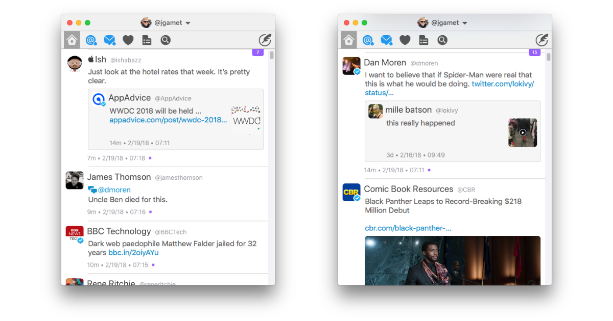 PSA: Twitterrific 5 for the Mac is 60% Off at $7.99