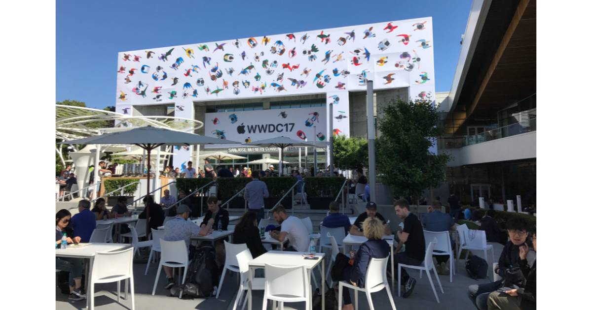 Apple's Worldwide Developer Conference event in 2017 at McEnery Convention Center