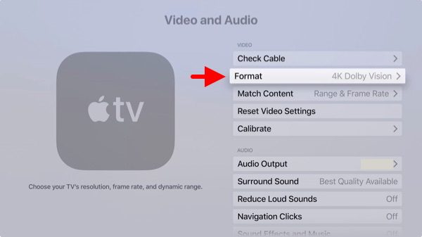 Confirming the Apple TV 4K can deliver DV to the TV