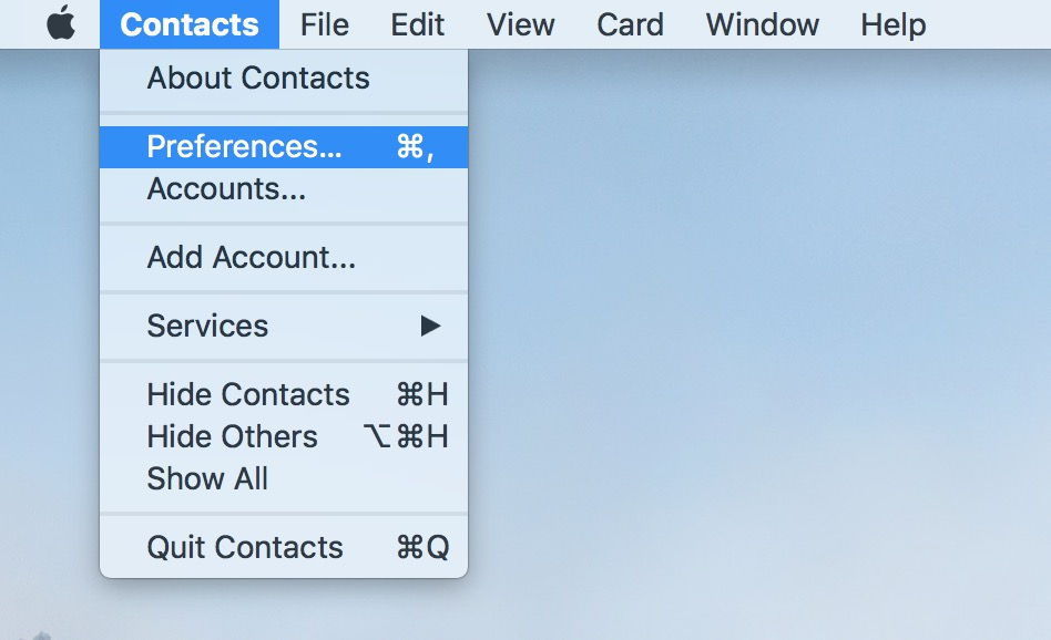 Contacts Preferences lets you set if apps can suggest additional information