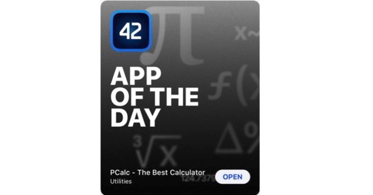PCalc, a Terrific Calculator App for iOS, is Apple's App of the Day