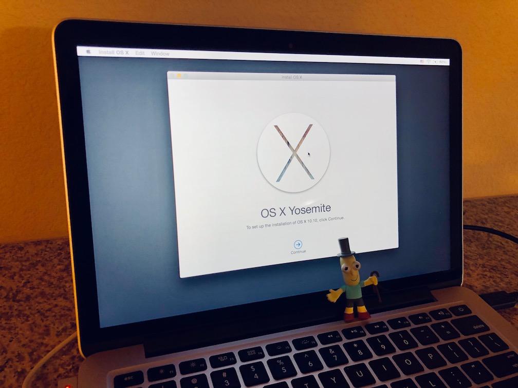 Reinstalling macOS Yosemite on MacBook Pro