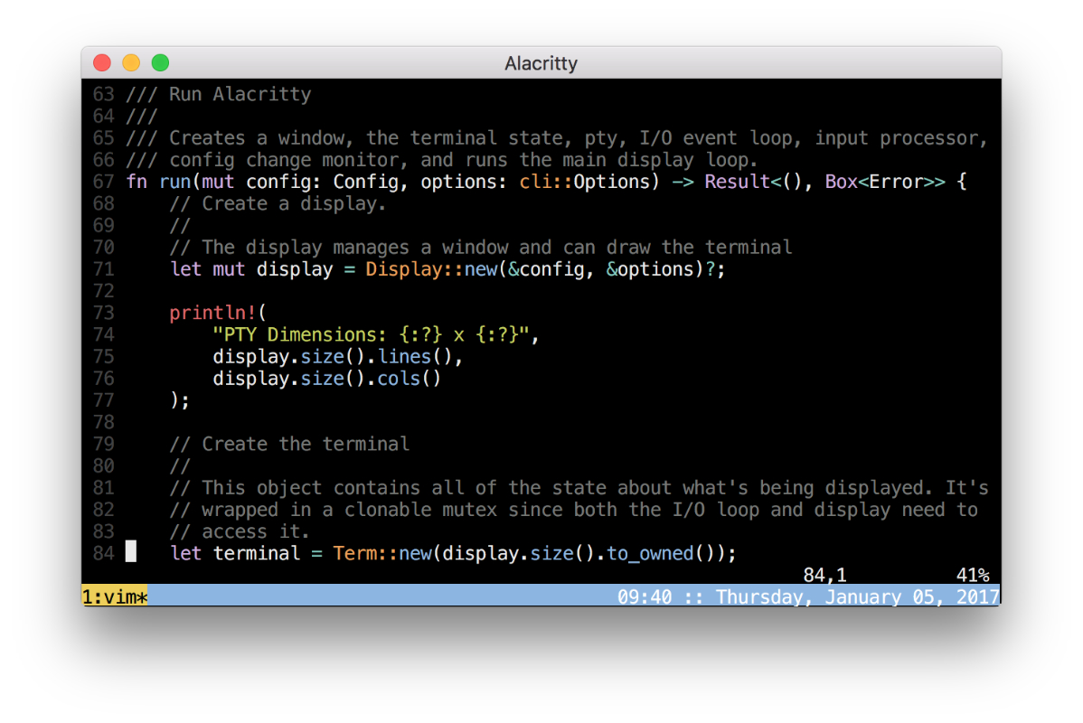 Alacritty Mac Terminal app alternative