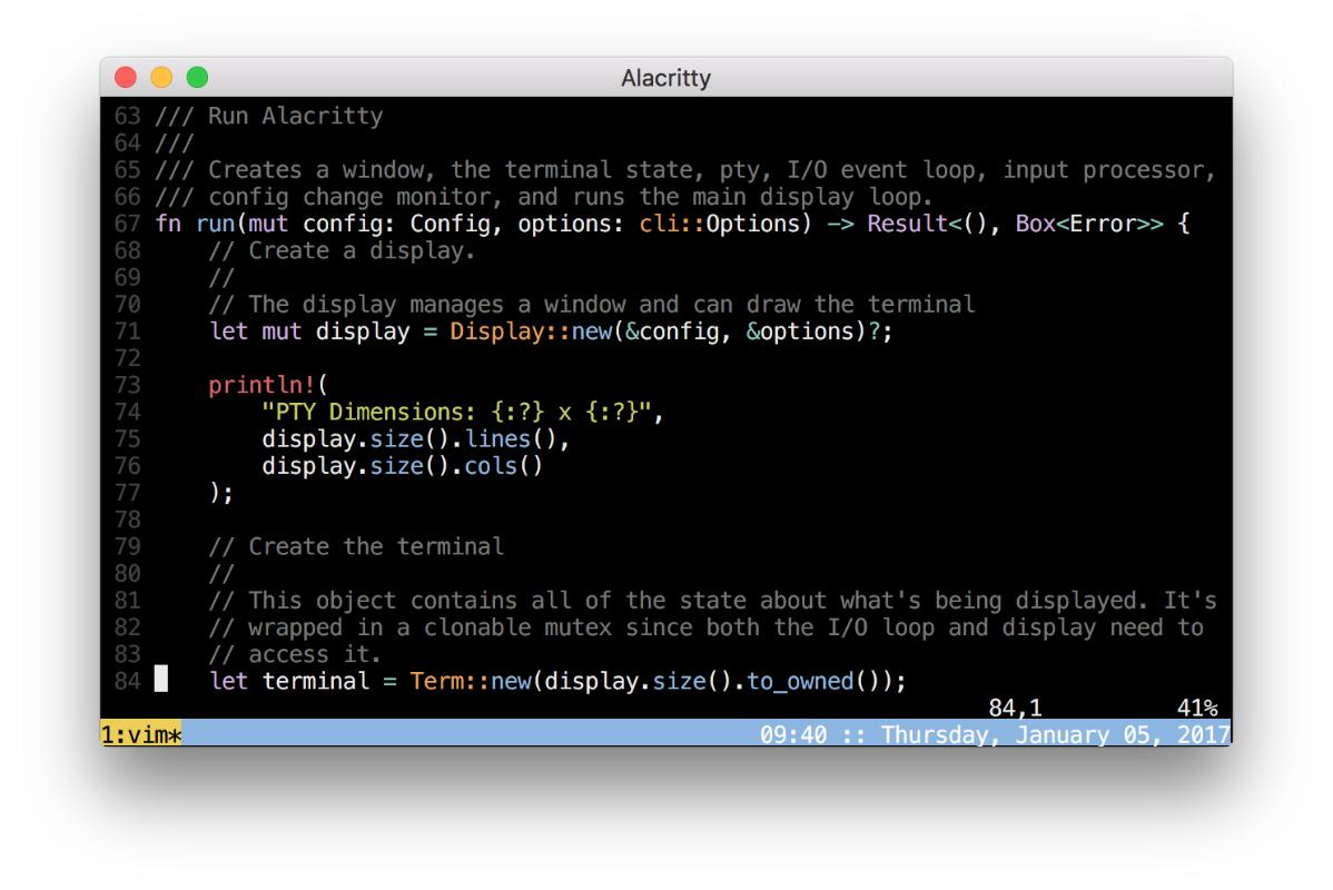 Alacritty Mac Terminal app alternative
