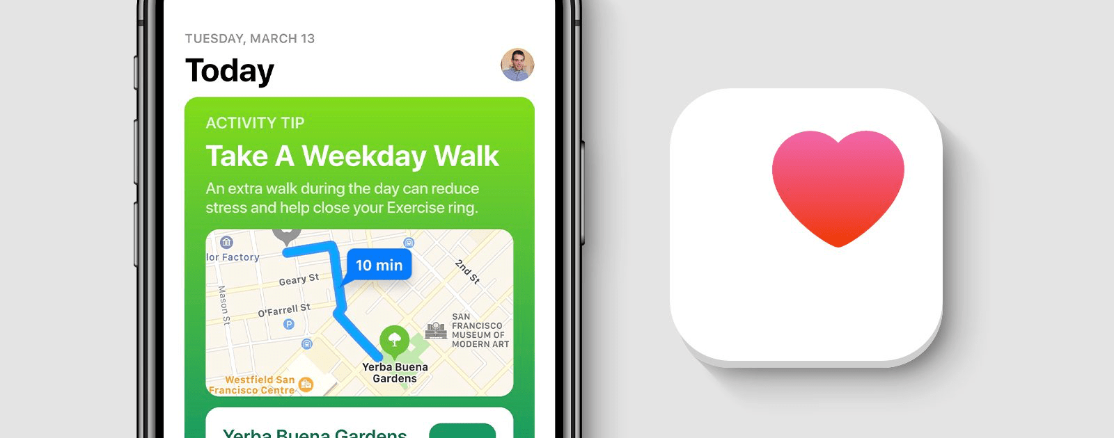 Image of Apple health concept. Walgreens launches its own digital health platform.