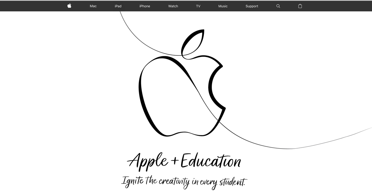 Apple + Education Home Page Redesign