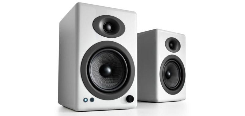 Audioengine A5+ Wireless Speakers in Hi-Gloss White