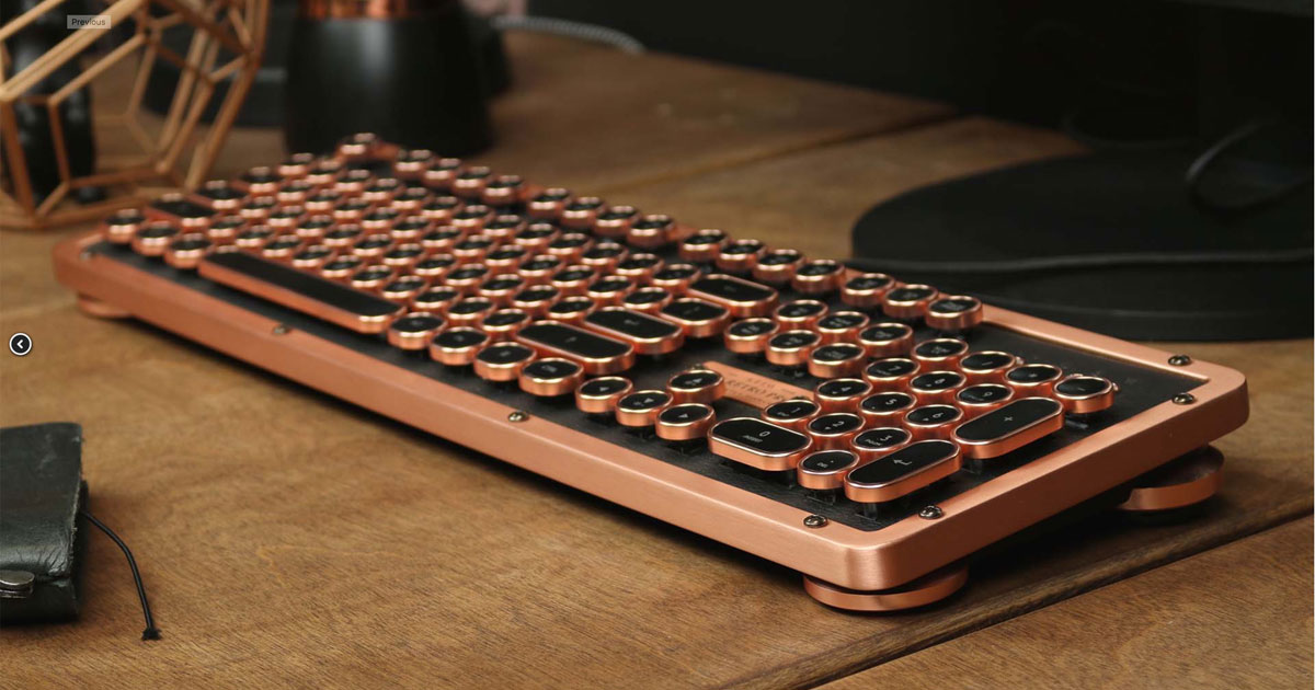 Azio Mechanical Keyboard Marries Retro Looks and Backlit Keys [Update on Mac Support]