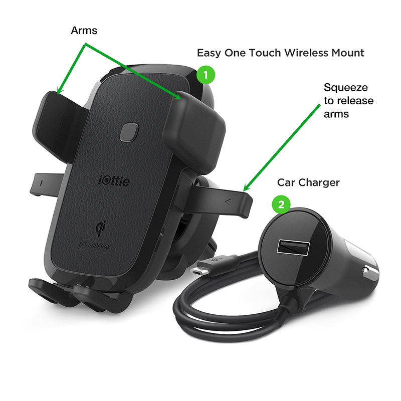 The one-touch mounting system makes it a breeze to insert or remove your phone with one hand.