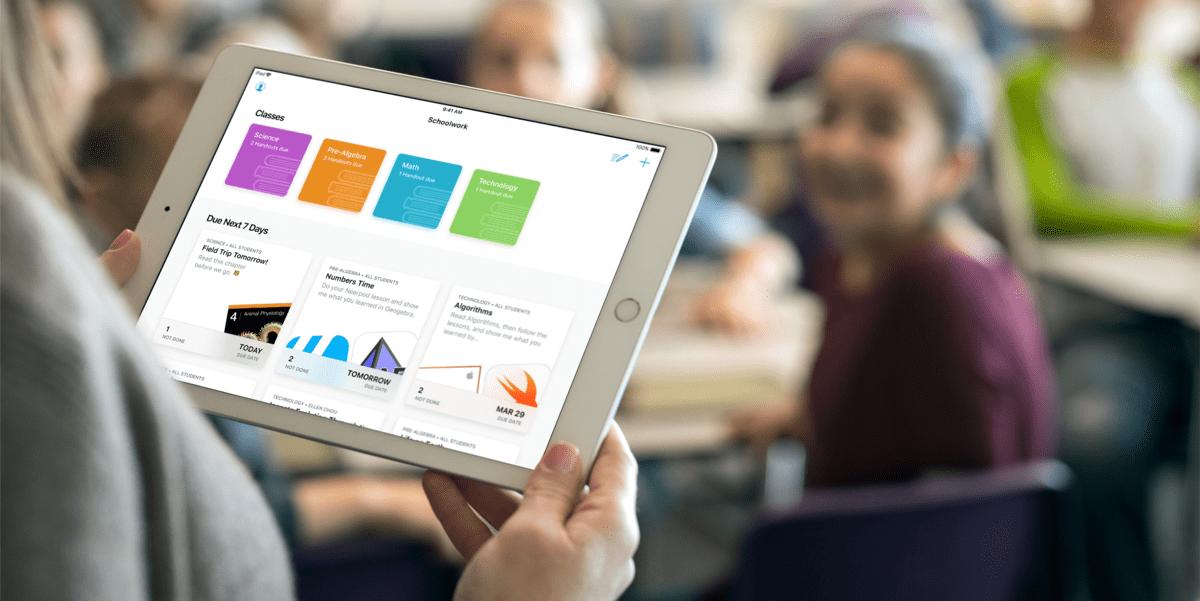 ClassKit app on iPad.