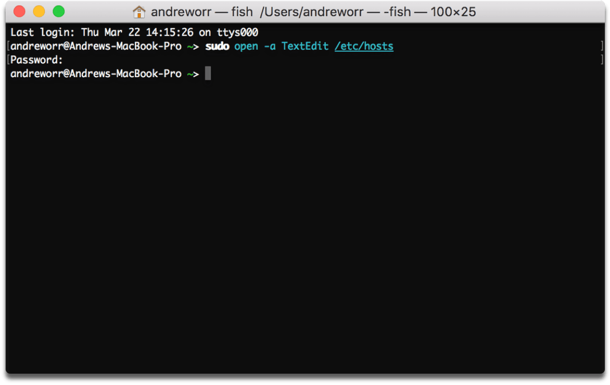 Using a Terminal command to edit the hosts file to block Facebook completely.