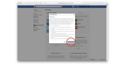 Facebook Platform settings to disable all apps and services from linking to Facebook