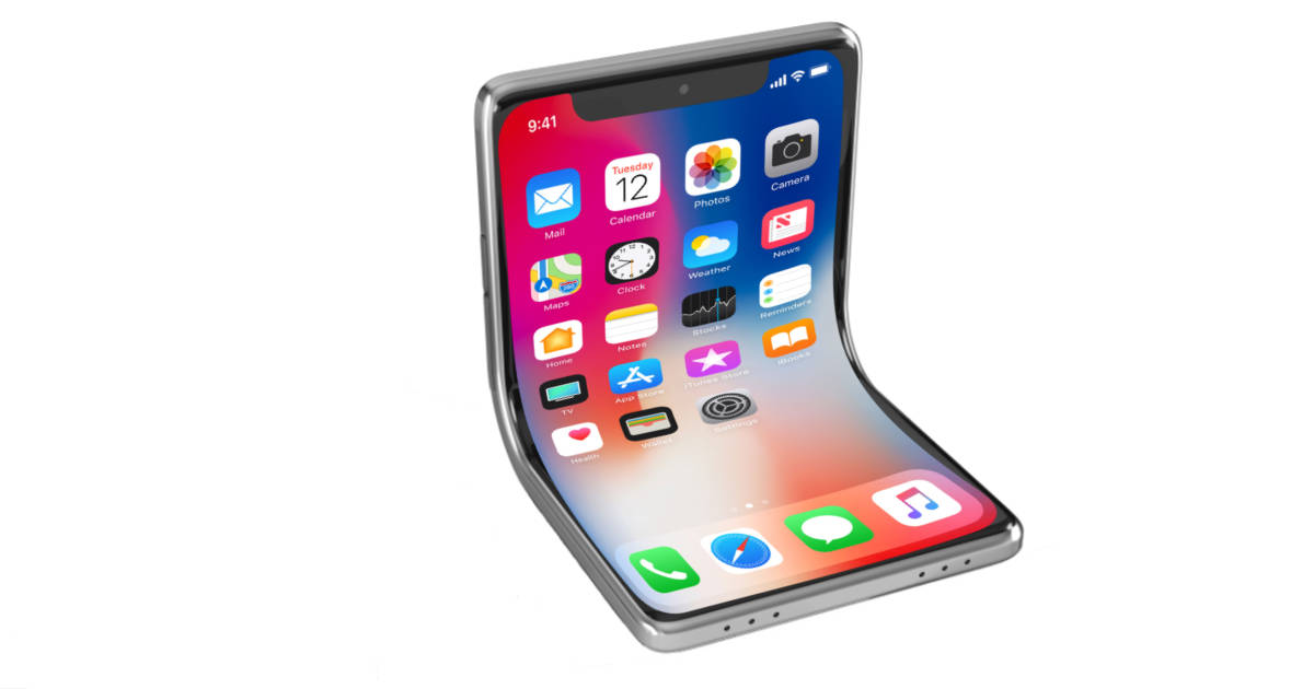Foldable iPhone mockup