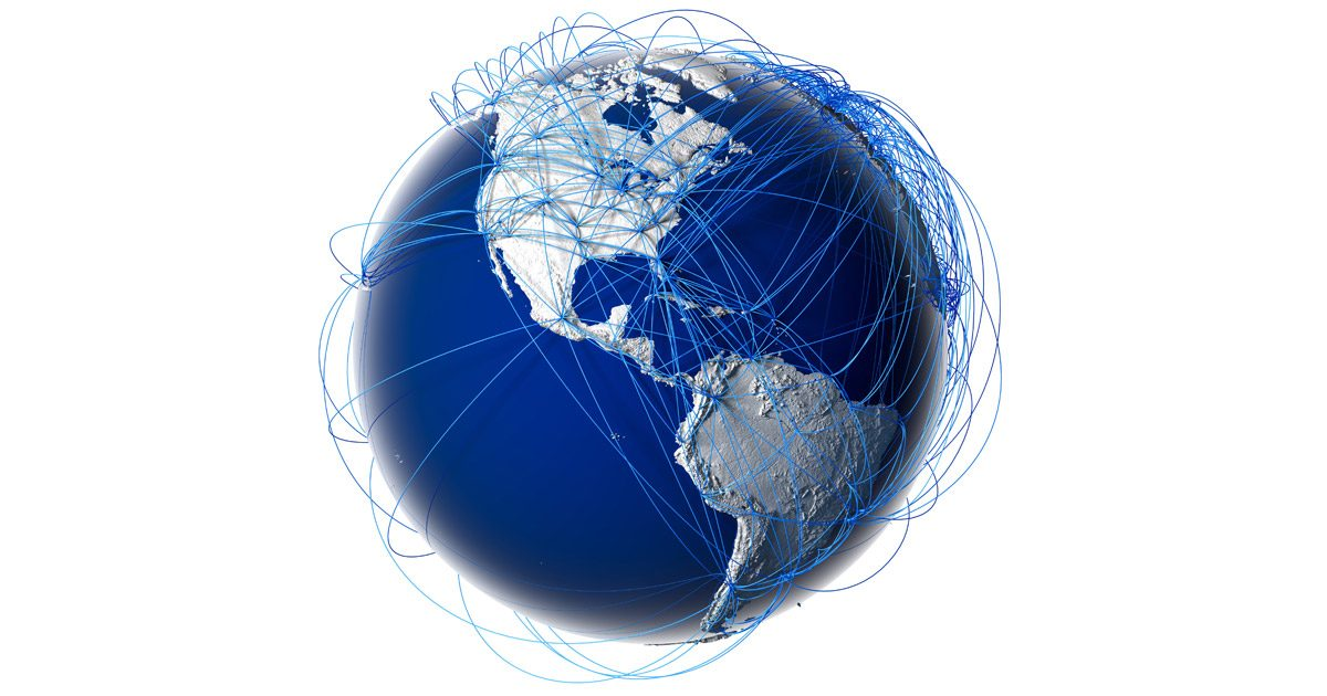 Globe with Tracking Data