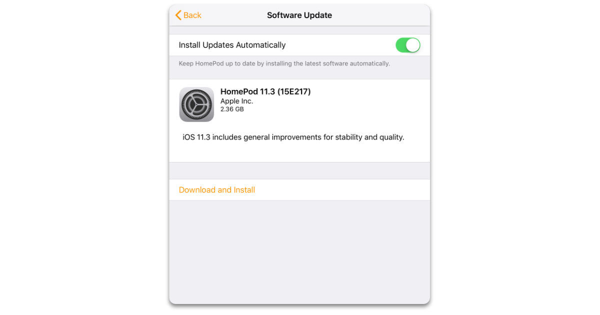 HomePod 11.3 software update