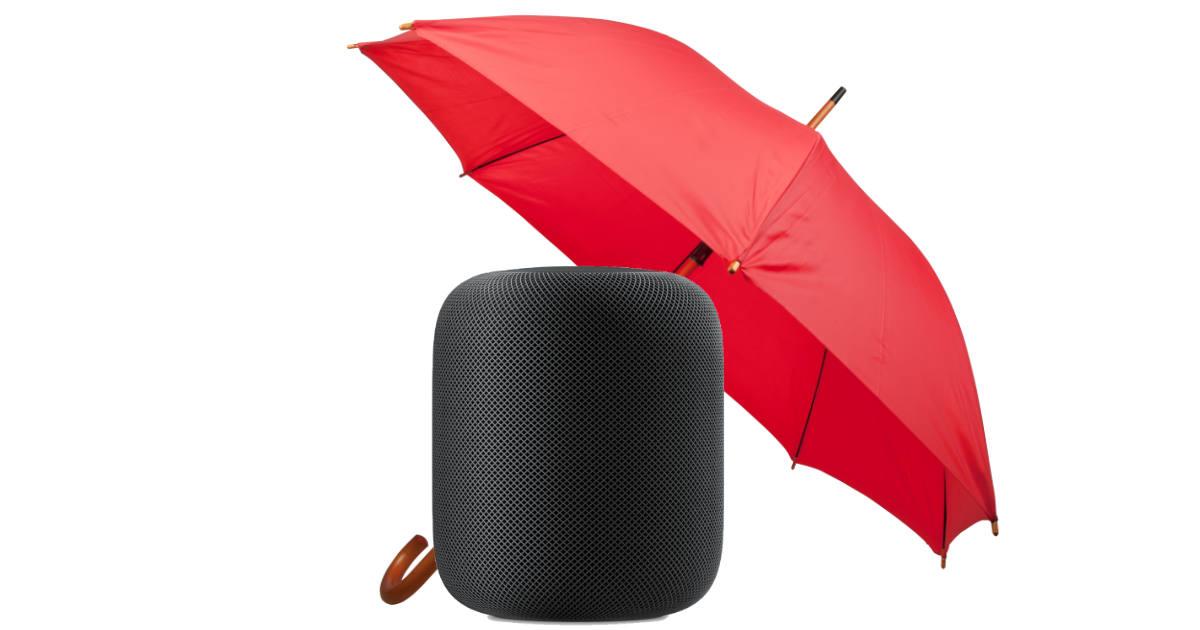 HomePod with umbrella