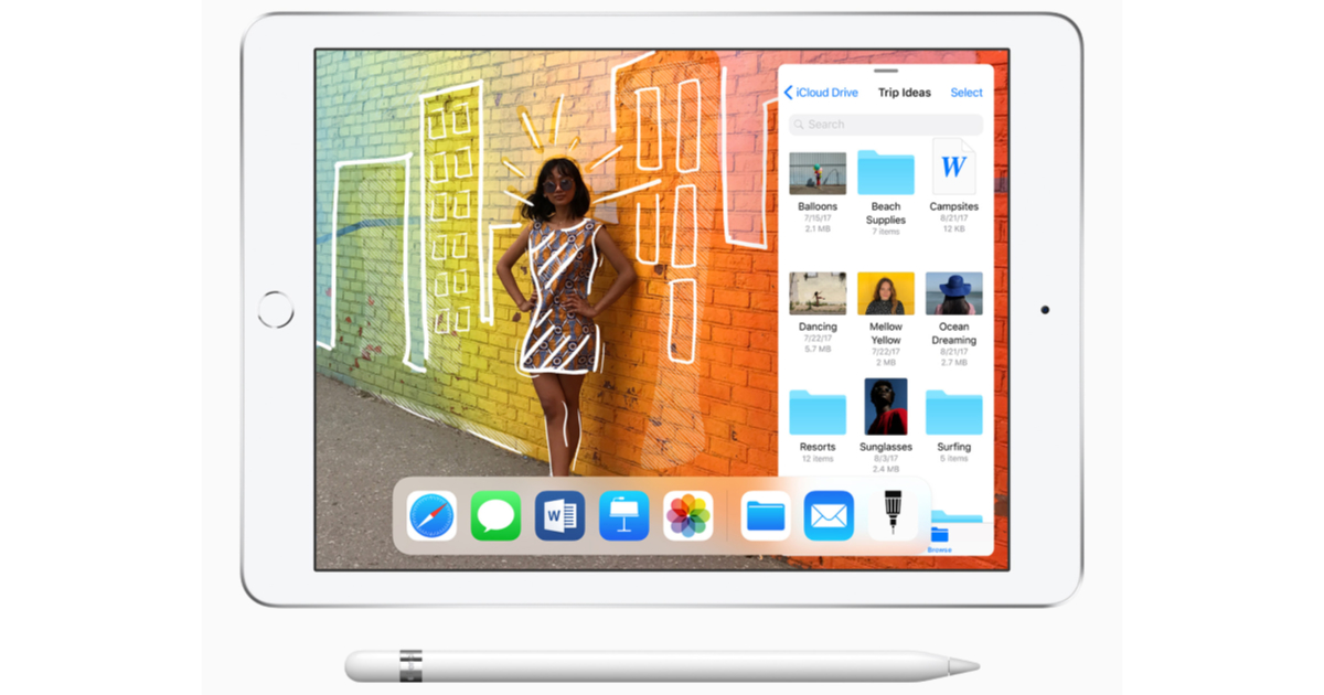 New 9.7-inch iPad with Apple Pencil