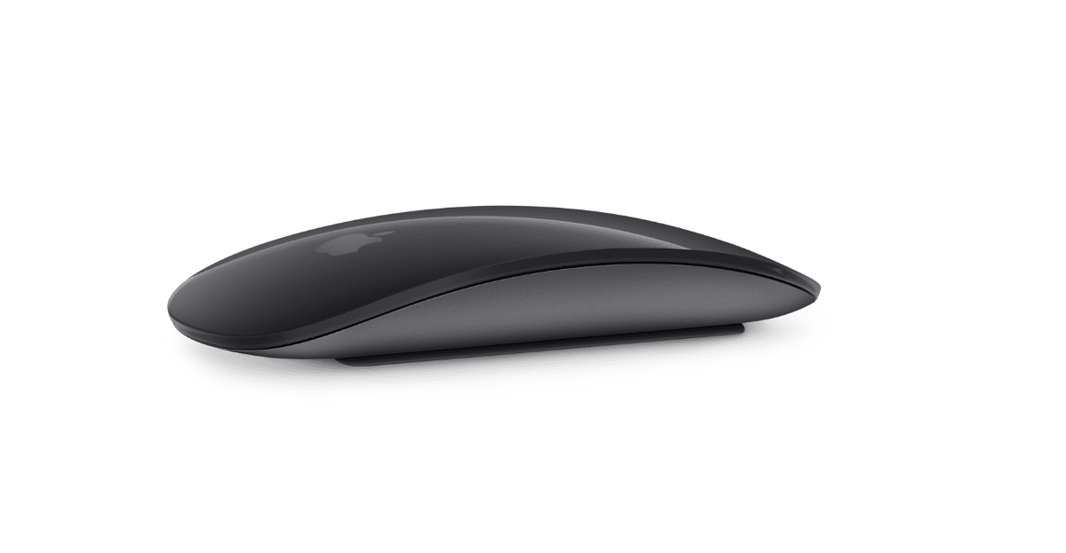 There are new Space Gray Mac accessories, like this Magic Mouse 2.