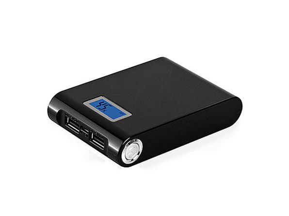 12,000mAh LED Power Bank with Built-in LED Flashlight: $19.99