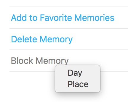 Block by Day or Place option for Memories in Photos on Mac