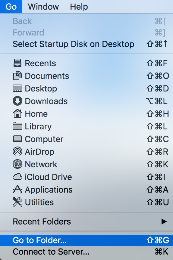 Go to Folder option in Finder helps you get into Mac folders you usually can't see