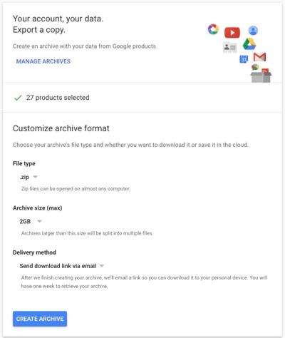 Google Archive