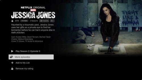 A Netflix original series - description page.