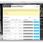 BBC Free Sound Effects Web Page