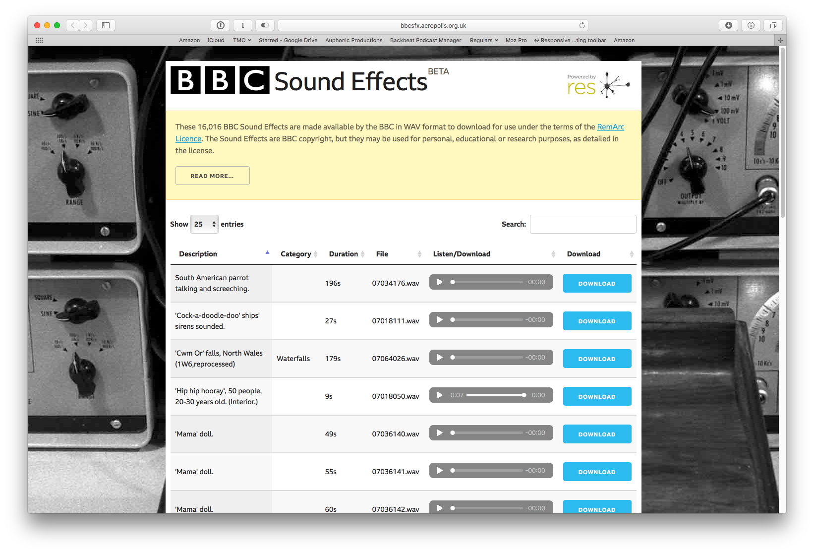 BBC Just Released 16,016 Sound Effects for Free