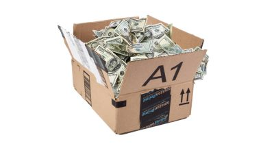 Amazon box full of money
