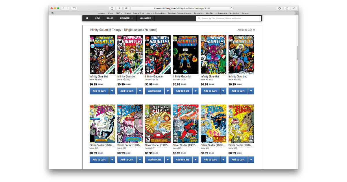 Check out the Comixology Avengers: Infinity War Comic Sale