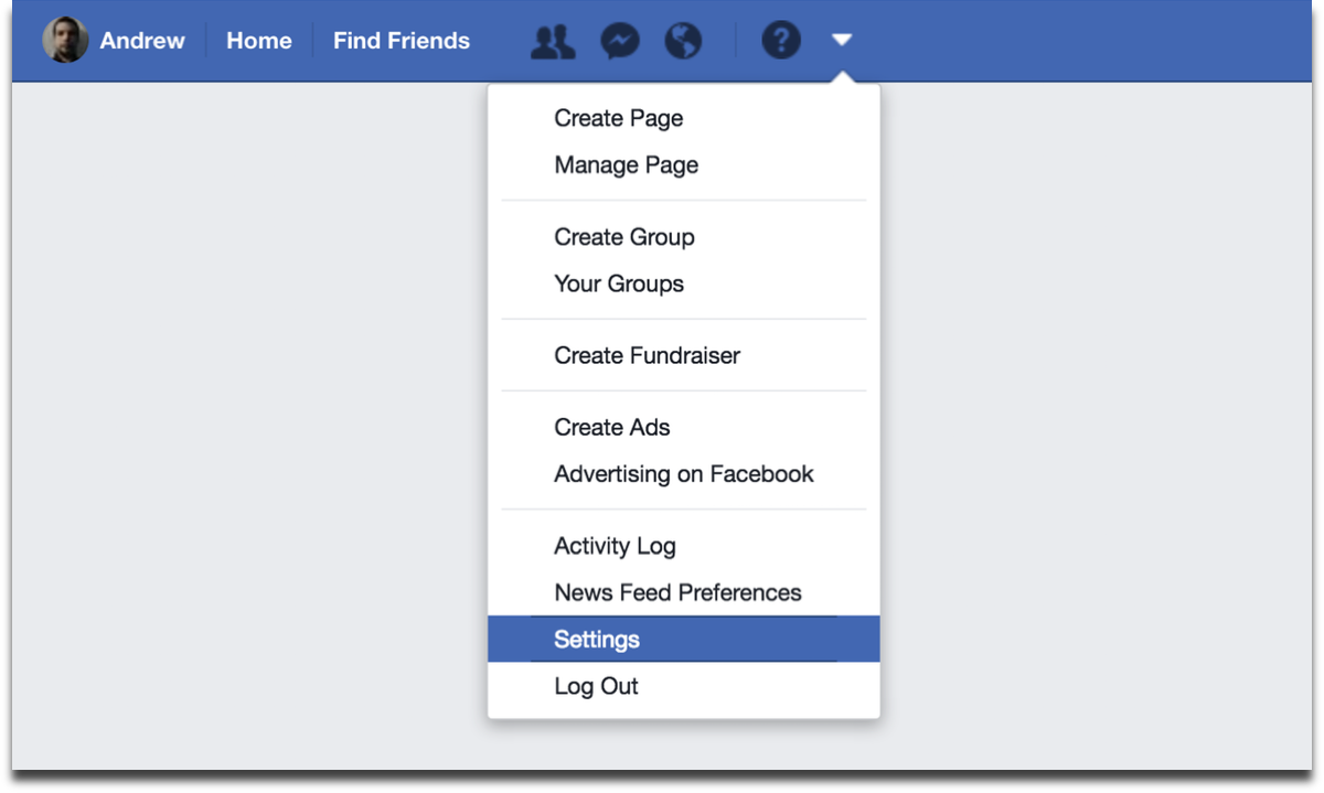 Download Facebook data by going to settings.