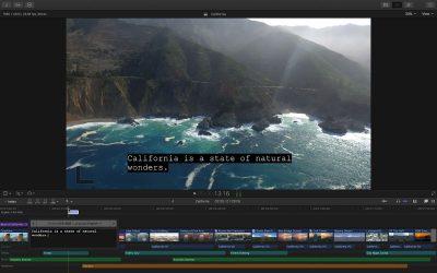 Close Captioning in Final Cut Pro X