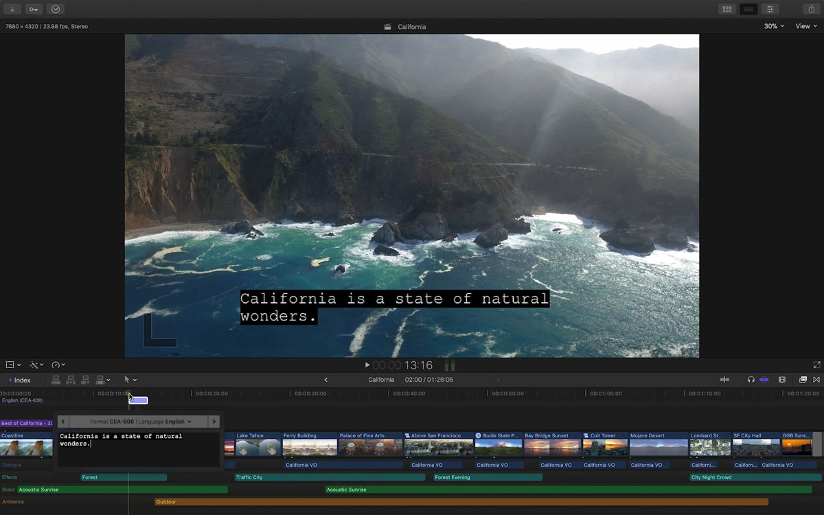 Close Captioning in Final Cut Pro X