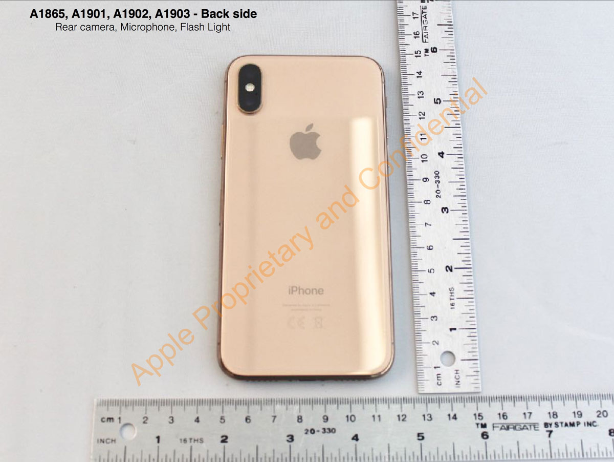 FCC Image of Gold iPhone X